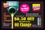 Superlube oil change coupons