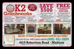 K2 Graniteworks coupons in the March 2016 Dollars and Sense Magazine