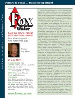 Business Spotlight Fox Water for March 2016 Dollars and Sense Magazine