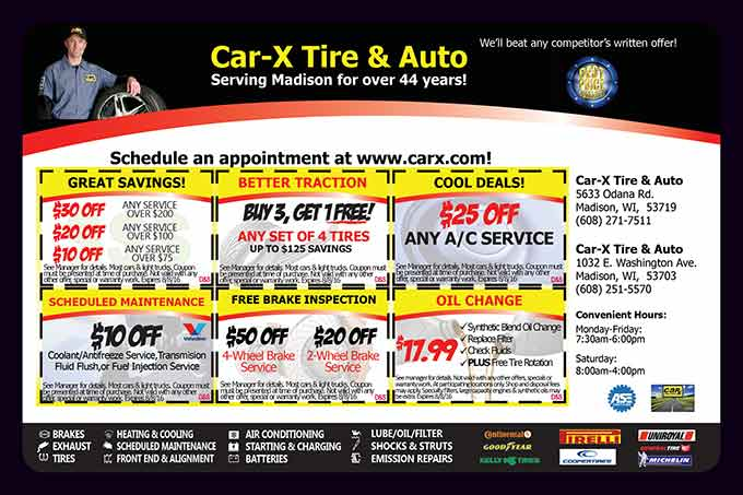 Car x tire coupons