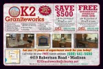 K2 Graniteworks coupons in May 2016 Dollars & Sense Magazine Madison Wisconsin