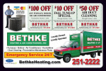 Bethke Heating and Air Conditioning coupons in the August 2016 issue of Dollars & Sense Magazine