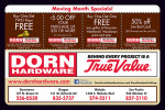 Dorn True Value coupons in the August 2016 issue of Dollars & Sense Magazine
