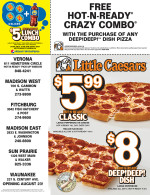 Little Caesars coupons in August 2016 issue of Dollars & Sense Magazine