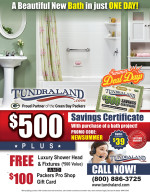 Tundraland Bath coupons in August 2016 issue of Dollars & Sense Magazine