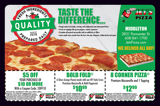 Jet's pizza coupon codes online