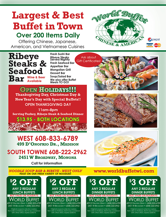 World Buffet Chinese, Japanese, Vietnamese and American